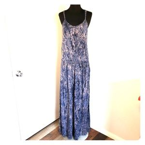 Rachel Roy Blue Gray Maxi Dress